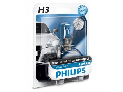 Žiarovky Philips H3 12V 55W White Vision Xenon, 2 kusy