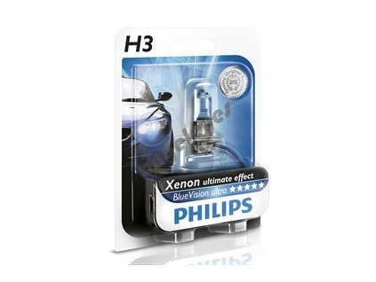 Žiarovka Philips H3 12V 55W Blue Vision Xenon, 1 kus