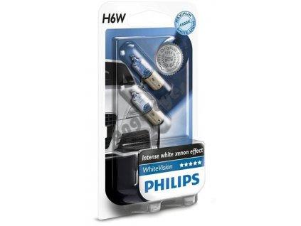 Žiarovky Philips H6W White Vision Xenon, 2 kusy