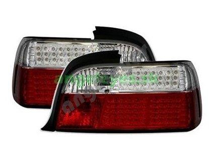 BMW E36 coupe, cabrio LED červeno-biele