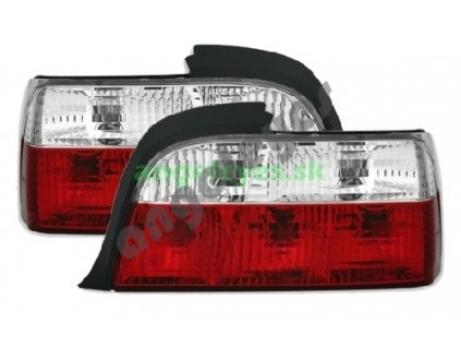 E36 coupe, cabrio zadné červeno biele