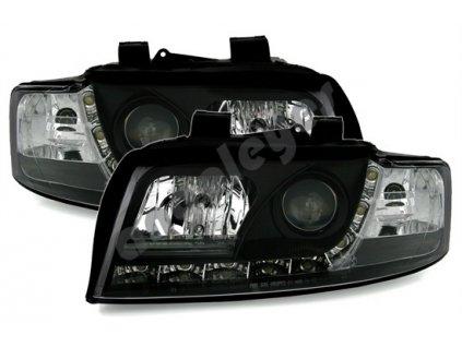 Audi A4 00-04 svetlá s originál denným svietením RL čierne