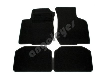 Čierne koberce pre VW Golf 6 + Variant