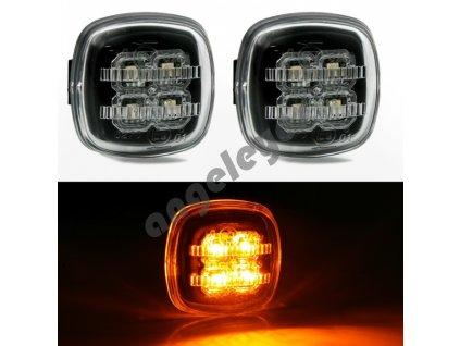 Bočné LED smerovky čierne