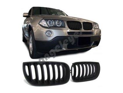 BMW X3 predná čierna matná maska bez znaku, rv. 03-06