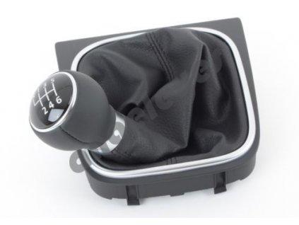 VW Golf 5 originál VW rýchlostná páka s koženou hlavicou