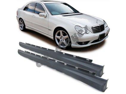Bočné prahy Mercedes C, W203, S203 rv. 00 - 07 s C32 AMG výzorom