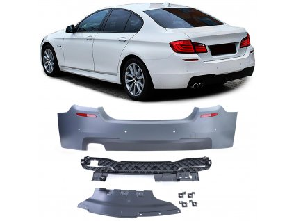 BMW 5 F10 sedan zadný nárazník štýl M paket s parkovacím...