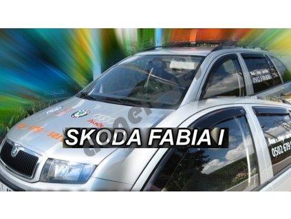 Deflektory na okná pre Škoda Fábia 1, 4ks