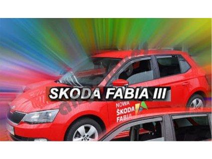 Deflektory na okná pre Škoda Fábia 3, 4ks