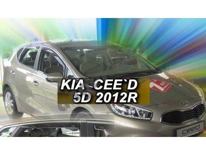 Deflektory na okná pre Kia Ceed II, rv. 2012-2018, 2ks