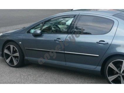 Deflektory na okná pre Peugeot 407, 2ks