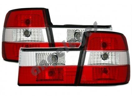 BMW E34 zadné svetlá červeno biele