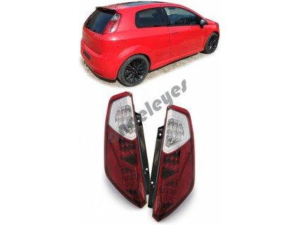 Fiat Grande Punto zadné LED svetlá červené od rv. 2005 - 2009