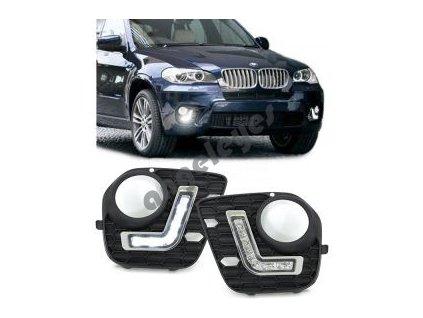 BMW X5 denné LED svietenie s funkciou automatického zatmavenia