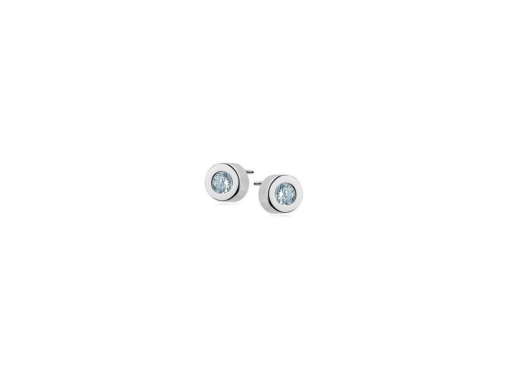 eng is Silver 925 round earrings auamarine zirconia 11886 161KC