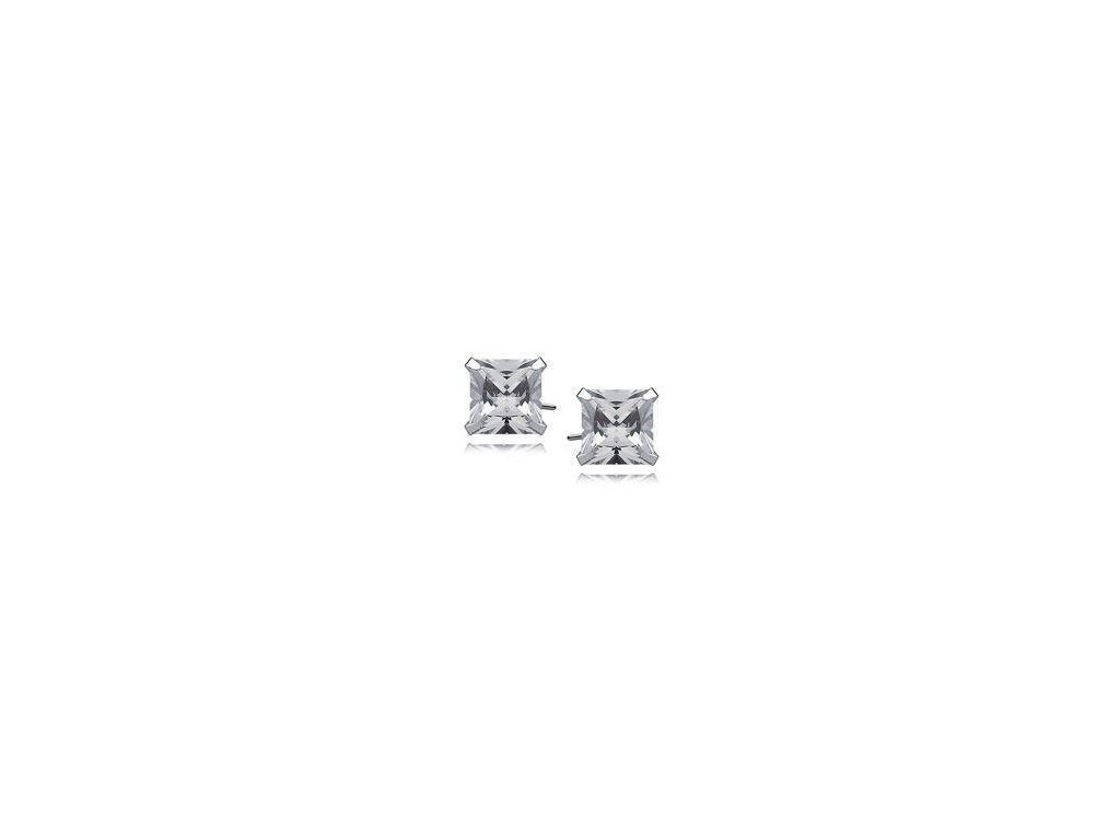 eng is Silver 925 earrings white zirconia 8 x 8mm square 9755 (1) 64kc
