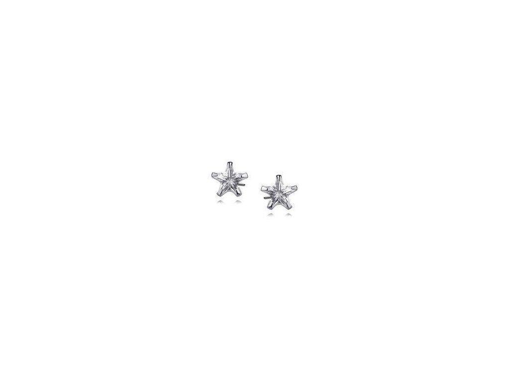 eng is Silver 925 earrings white zirconia 7 x 7mm stars 9757