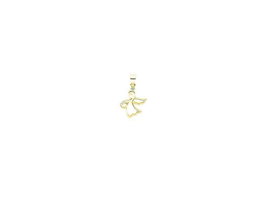 eng is Silver 925 pendant gold plated angel with heart 13177 96kc