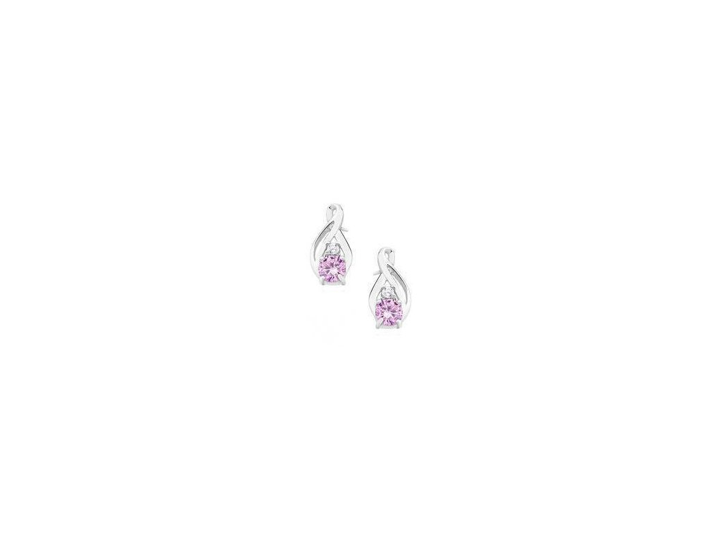 eng is Silver 925 earrings with light pink zirconia 11620