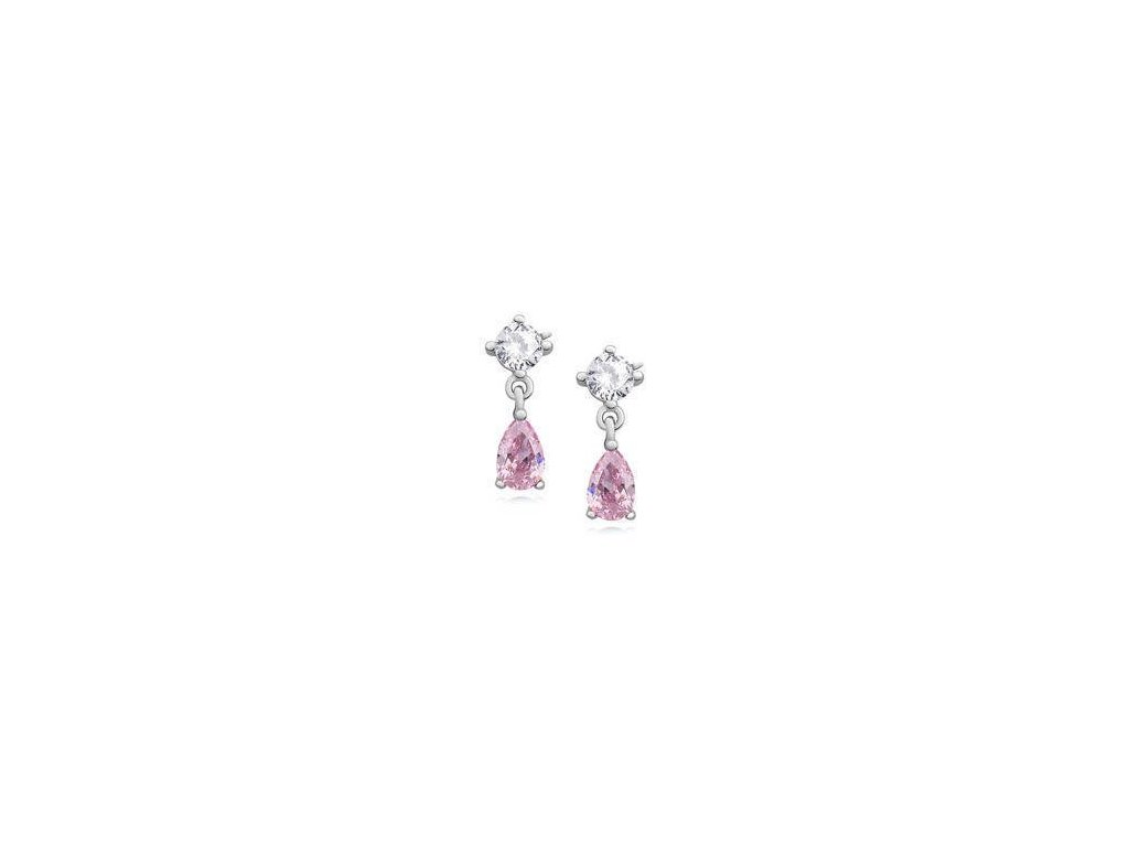 eng is Silver 925 elegant earrings with light pink zirconia 11735