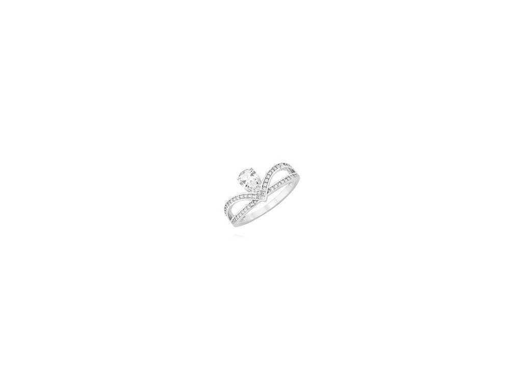 eng is Silver 925 ring crown with zirconia 11992