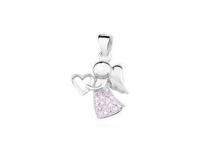 eng is Silver 925 pendant with zirconia angel 12781
