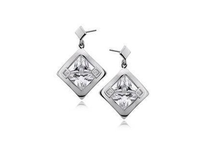 eng is Silver 925 Earrings big white zirconia 4787