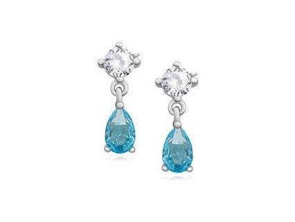 eng il Silver 925 elegant earrings with aquamarine zirconia 10811