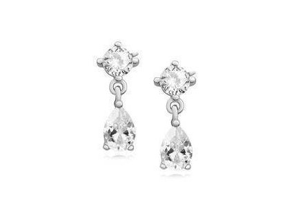eng il Silver 925 elegant earrings with white zirconia 10813