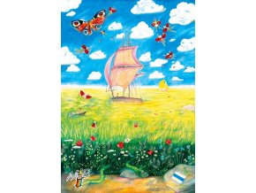 The Sailboat In Fields
