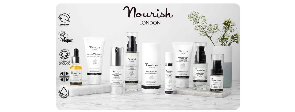 Nourish London přírodní veganská kosmetika
