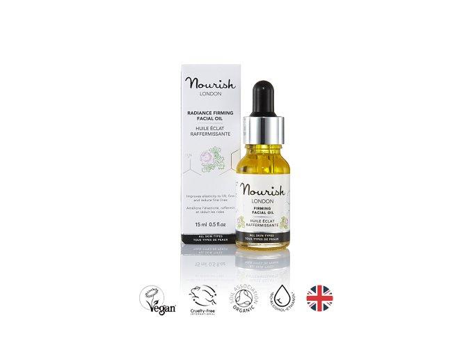 anglickakrasa zpevnujici oblicejovy olej nourish radiance facial firming oil