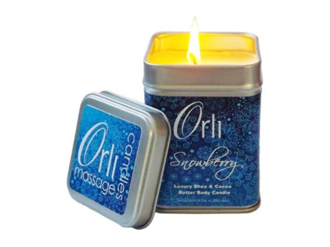 Přírodní masážní svíčka Snowberry 108g - Orli Massage Candles