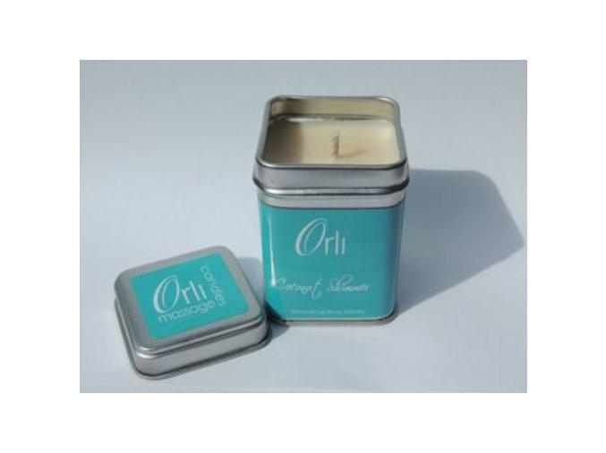 Přírodní masážní svíčka Coconut Shimmer 108g - Orli Massage Candles