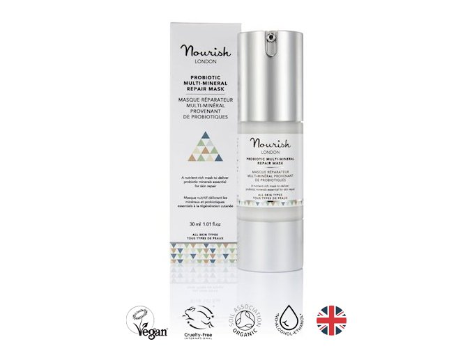 anglickakrasa probioticka multimineralni regeneracni maska nourish london probiotic multi mineral repair mask