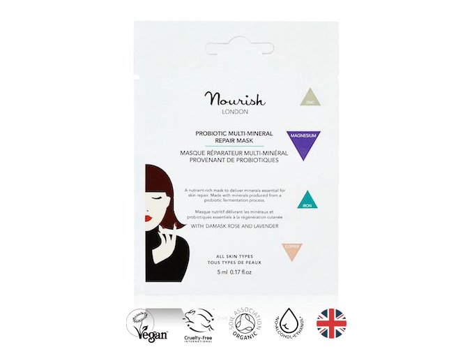 anglickakrasa probioticka multimineralni regeneracni maska nourish london probiotic multi mineral repair mask mini baleni na cesty jednorazova