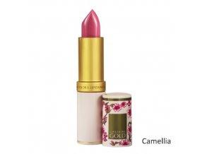 Dlouhodržící hydratační rtěnka Lipstains Gold - Camellia