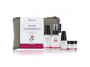 anglickakrasa radiance mini kit na normalni a zralou plet krem peptidove serum odlicovac cleanser tonikum nourish starter collection