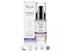 anglickakrasa peptidove serum na citlivou plet nourish relax hydrating peptide serum