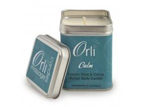 Přírodní masážní svíčka Zklidňující 108g - Calm - Orli Massage Candles