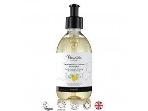 anglickakrasa nourish london prirodni certifikovany bio vegansky myci gel na ruce hydratacni antibakterialni lemon black pepper hand wash gel