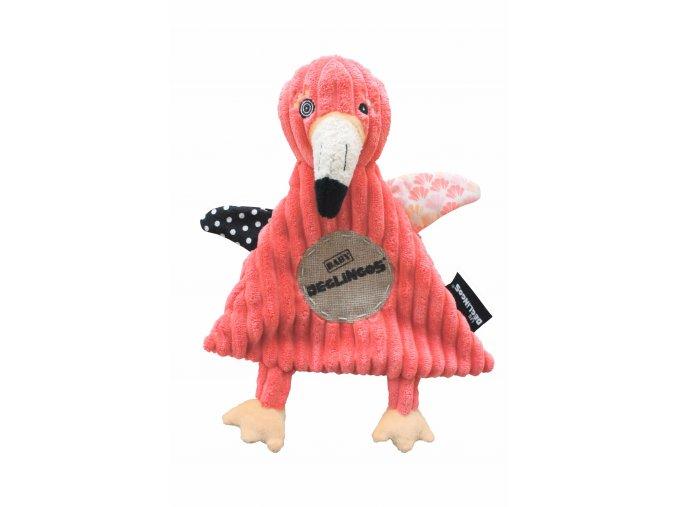 Doudou Baby Flamingos le Flamant Rose Les Deglingos