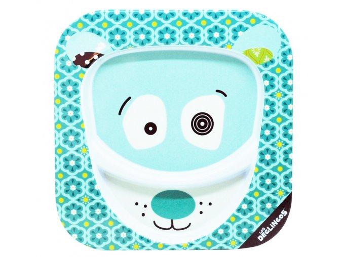Globe Trotoys dětský talíř Déglingos lední medvěd Illicos