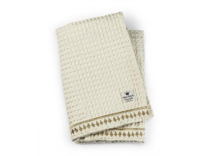 Elodie Details deka bavlněná wafl Vanilla White