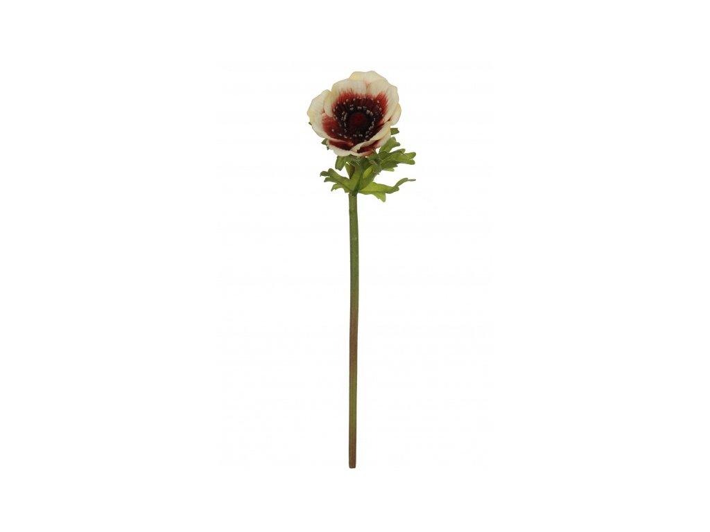 Umělá květina - Sasanka krémová