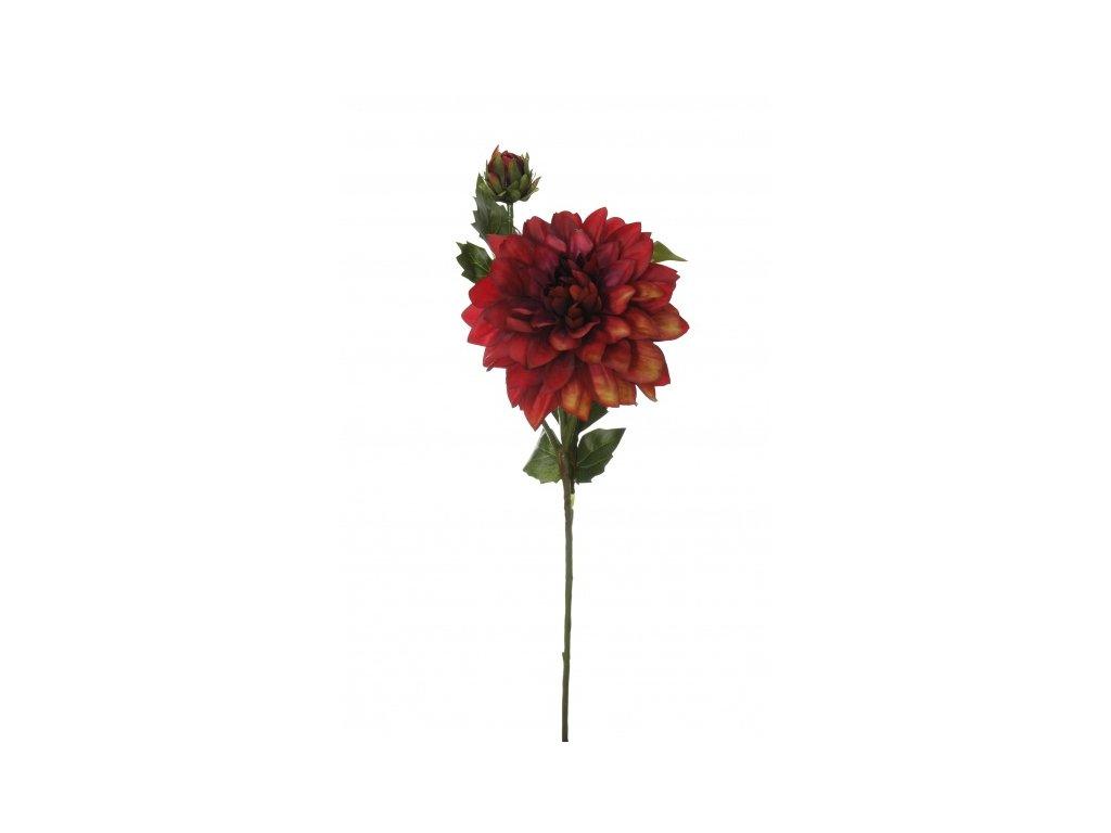 Umělá květina - Jiřina w/ bordo
