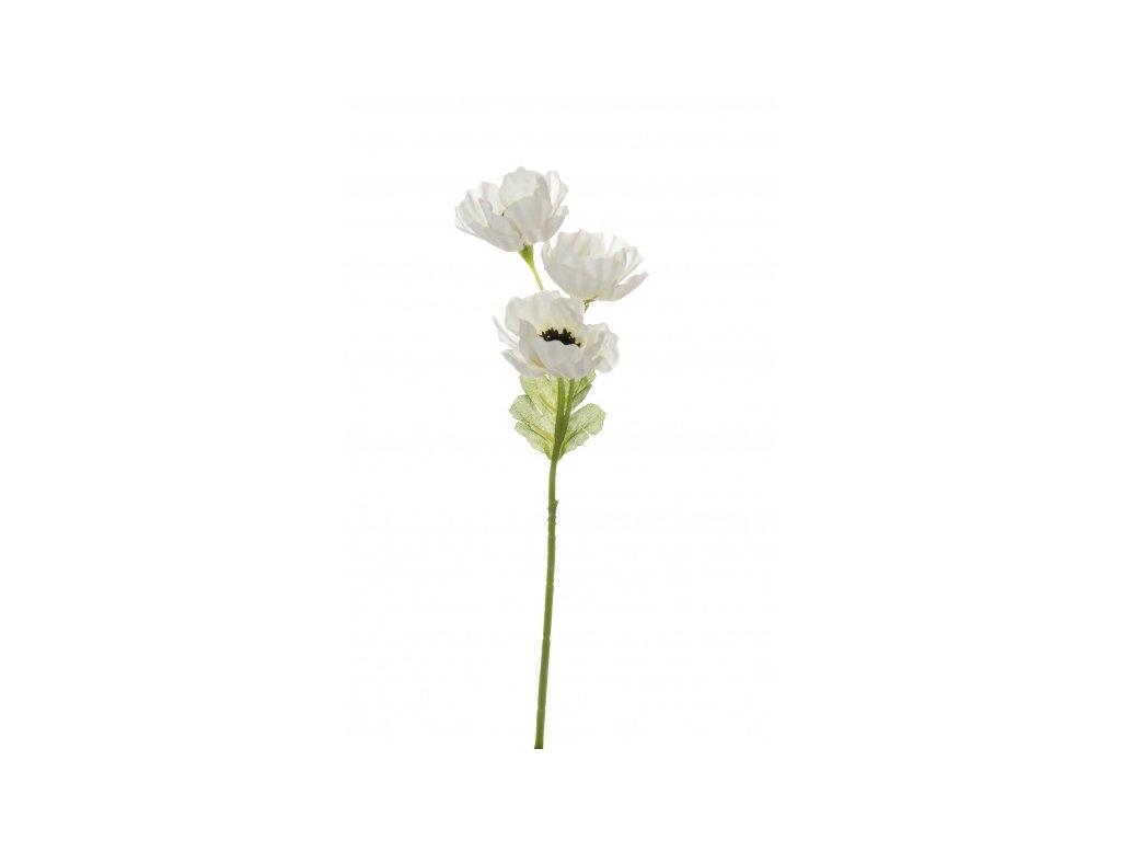 Umělá květina - Sasanka malá bílá