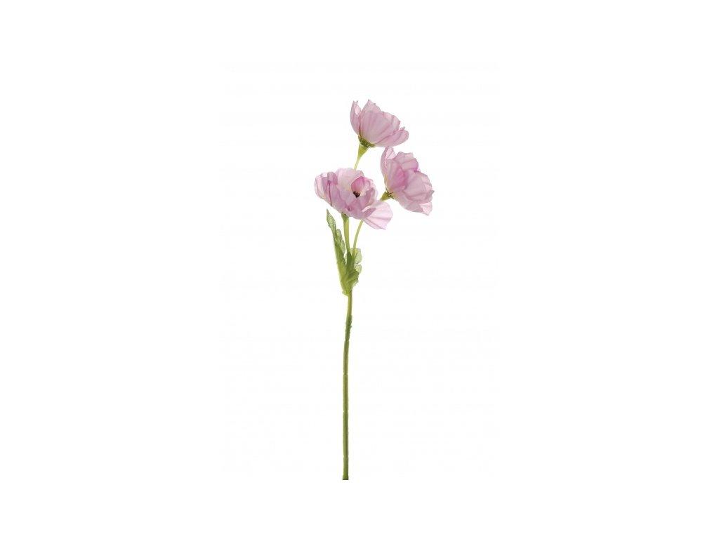 Umělá květina - Sasanka malá fialková