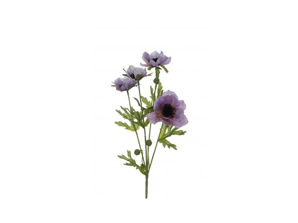 Umělá květina - Sasanka sv.fialová x4 - ANIMADECOR b6acb6b9cb